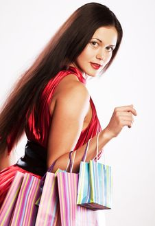 Shopping Sexy Woman Stock Image