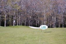 Free Golf Cart Sign Stock Image - 14366861