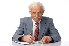 Free Businessman Writing. Stock Photos - 14366913