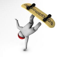 Free 3d Skateboarder Stock Images - 14367654