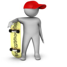 3d Skateboarder Royalty Free Stock Photos