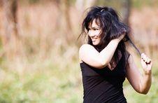 Free Portrait Of Smiling Brunette Stock Photo - 14368350