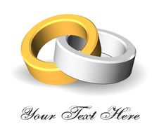 Free One Silver And One Gold Ring Stock Photo - 14368560