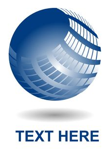 Free Shiny Blue Ball Stock Photos - 14368623