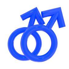 Male Couple Symbol Isolated On White Stock Photography