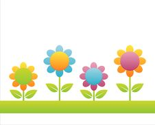 Free Colorful Floral Background Royalty Free Stock Image - 14369336