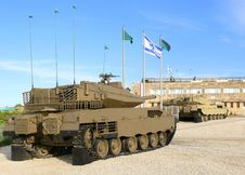 Free Merkava - Israeli Battle Tanks. Royalty Free Stock Photo - 14369385