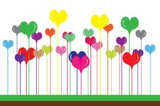 Free Abstract Hearts Royalty Free Stock Photography - 14369447
