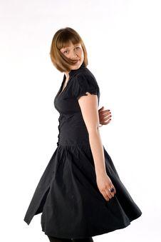 Free Woman Dancing In Studio Royalty Free Stock Photos - 14369628