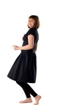 Free Woman Dancing In Studio Stock Images - 14369654