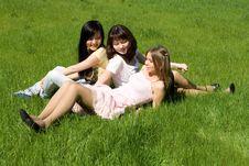 Free Three Girls Royalty Free Stock Images - 14369889