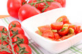 Free Salad Of Tomatoes Royalty Free Stock Photography - 14370137