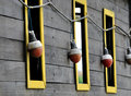 Free Windows And Red Bulb On Wooden Wall Royalty Free Stock Images - 14376099