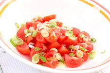 Free Salad Of Tomatoes Royalty Free Stock Images - 14370109