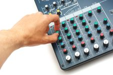 Free Hand And Mixing Console Stock Photos - 14370183