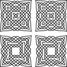 Two Celtic Knots Stock Photography
