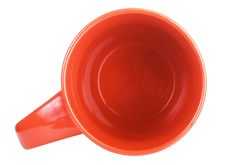 Red Tea Cup, View From Above Stock Photography