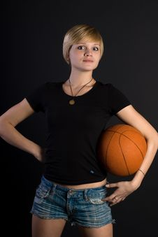 Free Girl With Ball Royalty Free Stock Photos - 14370928