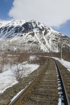 Railway And Mountains Stock Photography