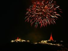 Free Fireworks On The Mountain Stock Photo - 14371010