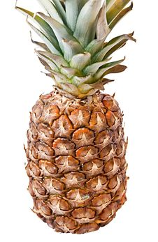 Free Tasty And Ripe Pineapple Over The White Background Stock Photo - 14371240