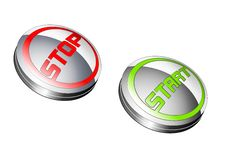 Free Start And Stop Buttons Royalty Free Stock Images - 14371759