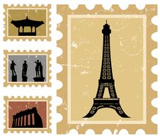 Free Historical Stamps Royalty Free Stock Photos - 14371828