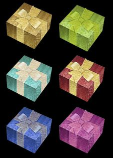 Free Gift Box Vector Royalty Free Stock Image - 14372226