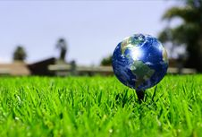 Free Earth - Like A Golf Ball Stock Photos - 14372583