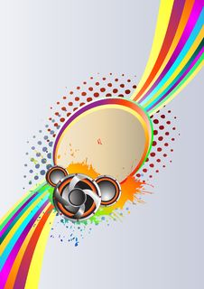 Abstract Rainbow Music Background Stock Photos