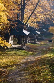 Free Autumn Walk Way Stock Photography - 14373152
