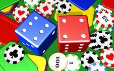 Free Gambling Casino Elements Royalty Free Stock Photos - 14373168