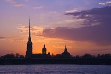Free Peter And Paul Fortress At Sunset Stock Photography - 14373262