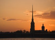 Free Peter And Paul Fortress At Sunset Royalty Free Stock Photo - 14373265