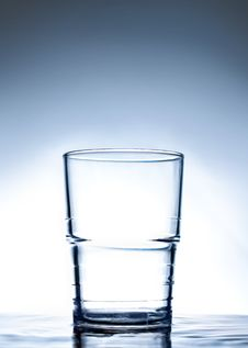 Free Simple Glass Standing On Water. Royalty Free Stock Image - 14373346