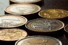 Free Euro Coins Royalty Free Stock Photo - 14373625