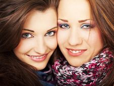 Free Two Girls Smiling Stock Photos - 14373753