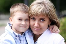 Free Happy Mother And Her Little Son Stock Photos - 14373803