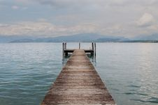 Free A Boardwalk In Lake Garda Stock Photography - 14374432