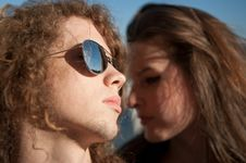 Free Cool Young Couple Royalty Free Stock Photo - 14374595