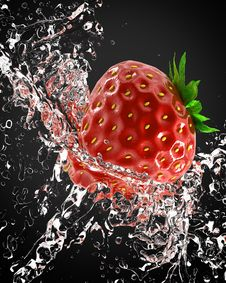 Free Fresh Strawberries Royalty Free Stock Image - 14374636