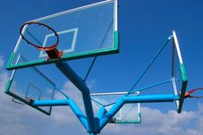 Free Basketball Stand And Sky Stock Image - 14374671