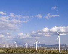 Free Desert Windmills Royalty Free Stock Photo - 14375175