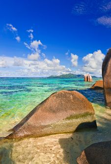 Free Stones On Tropical Beach Royalty Free Stock Photo - 14375385