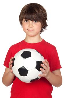 Free Adorable Boy With A Ball Stock Photography - 14375402