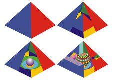 Free Pyramid Real And Impossible Visual Math Royalty Free Stock Image - 14375766