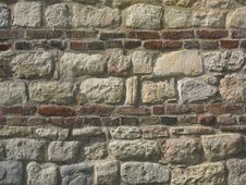 Rocks And Bricks Wall Stock Photos