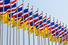 Free Thai Flags Royalty Free Stock Image - 14376666