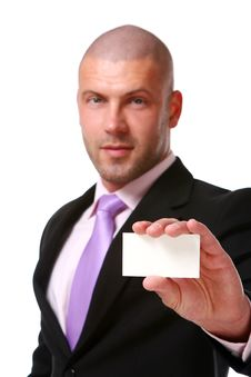 Free Business Man Isolated On The White Stock Photography - 14377832