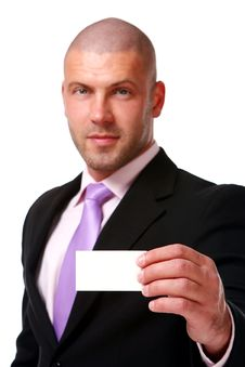 Free Business Man Isolated On The White Stock Photos - 14377833